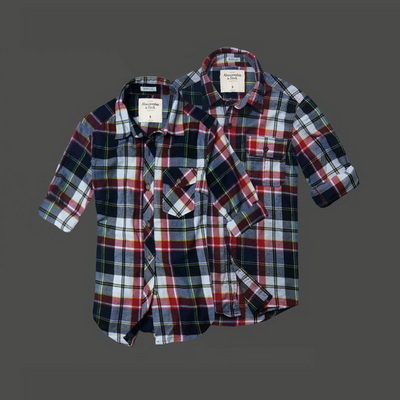Women's Abercrombie & Fitch Plaid Long Sleeves Shirts-35