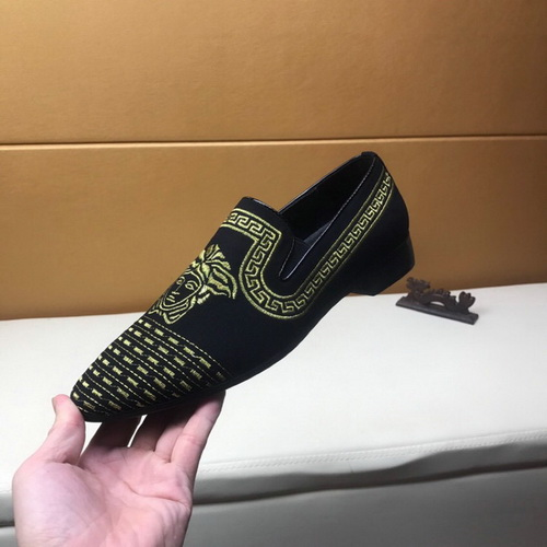 Men's Versace Dress Leather Shoes In High Quality-18
